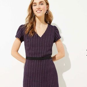 NWT Striped Boucle Flare Dress